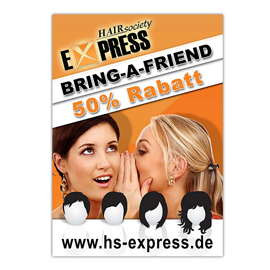 Plakat für HS EXPRESS - Bring-a-Friend-Aktion